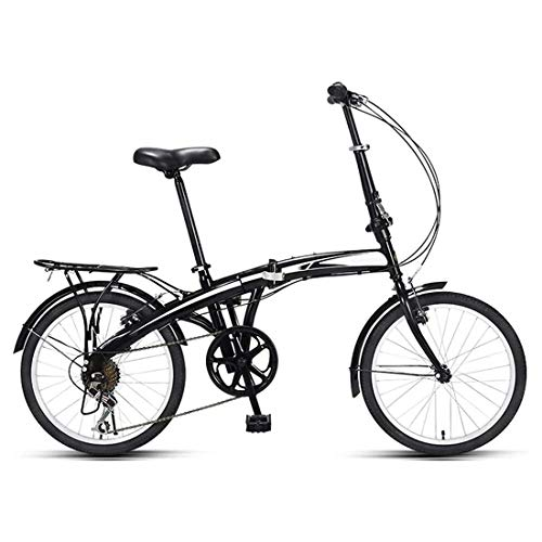 20 Pulgadas Bicicleta Bici Ciudad Plegables Adulto Hombre Mujer, Bicicleta de Montaña Btt MTB Ligero Folding Mountain City Bike Doble Suspension Bicicleta Urbana Portátil, H074ZJ
