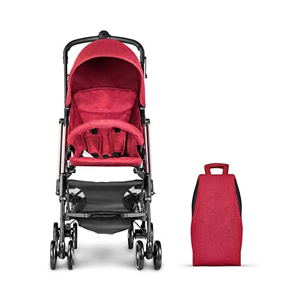 JXCC Baby Stroller Ultra Light Folding Child Shock Absorber Trolley Can Sit Half Lying 6 months-3 years old,25kg maximum -Safe And Stylish Red JXCC 1. {Four seasons are all} - Three sides of the net design, the awning can be adjusted at multiple angles, easy to cope with the sun 2. {Lightweight capsule car} - Weighs only 4.9kg, diamond car, can be on the plane, comfort zone baby 3. {3D Stereo Vibration} - X-frame design, evenly dispersing the upper weight, front wheel built-in suspension, rear wheel frame suspension 1