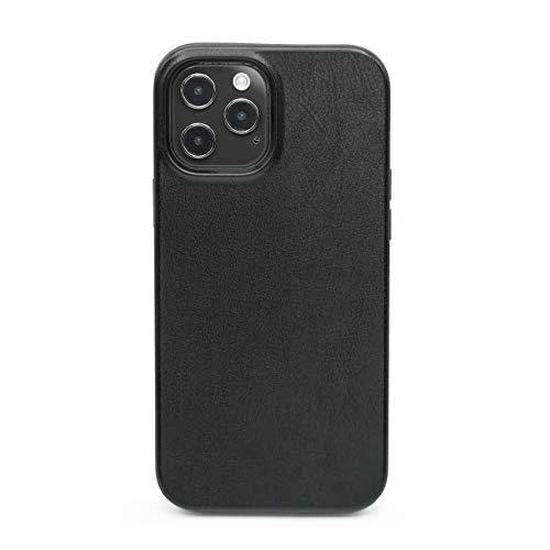 Arrivly Étui en Cuir pour iPhone 12 Pro Max (6,7 Pouces) Coque Haute de Gamme Case Couverture de Protection Noire en Cuire et Silicone Cover (Apple iPhone 12 Pro Max)