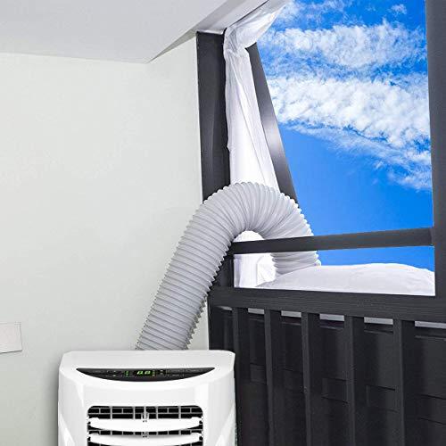 Fensterabdichtung für mobile Klimageräte, Wäschetrockner und Ablufttrockner   AirLock zum Anbringen an Fenster, Dachfenster, Flügelfenster - Umlaufmaß bis 400cm von AUGOLA