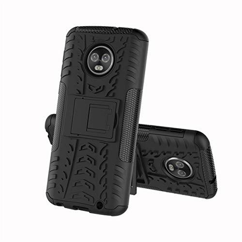 MOTO G5S Plus Funda, resistente a los golpes, resistente a golpes, doble capa, resistente, dura, PC, suave, silicona, protector de impacto, cubierta protectora con soporte integrado para MOTO G5S, más pantalla de 5.5 pulgadas
