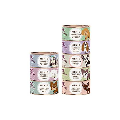 Terra Canis Pacchetto introduttivo - Minis, 8x100g I Alimento premium per cani con ingredienti di autentica qualità human-grade al 100% I Ricco di calcio, sano, grain-free & gluten-free