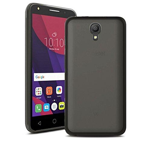 Tumundosmartphone Funda Gel TPU Color Negra para Orange Rise 51 / ALCATEL PIXI 4 (5) 4G / VODAFONE Smart Turbo 7