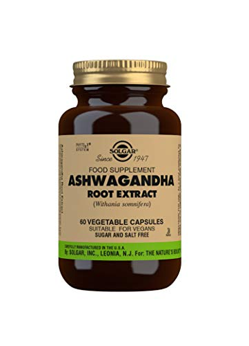 Solgar® Ashwagandha - Extracto estandarizado de raiz de Ashwagandha. Planta ayurvedica. Apto para veganos