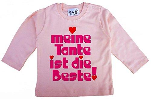 Dirty Fingers Dirty Fingers, Meine Tante ist die Beste!, Mädchen T-Shirt langärmlig, 6-12 m, Rosa
