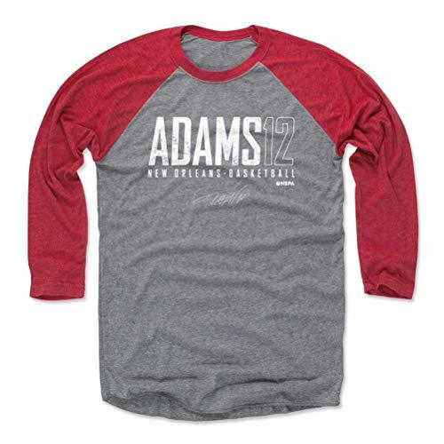 500 LEVEL Steven Adams Tee Shirt (Baseball Tee, X-Large, Red/Heather Gray) - Steven Adams New Orleans Elite WHT