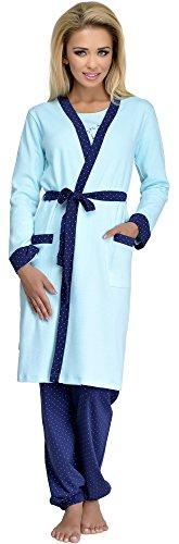 Merry Style Batas Ropa Interior de Cama Lencería Mujer 321 (Turquesa, S)