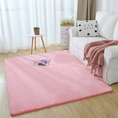 YXNN Modern imitatiewol tapijt 3 cm dik zacht pluizig tapijt voor woonkamer slaapkamer effen salontafel deken baby kruipmat