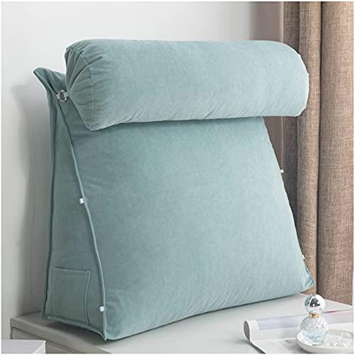 QWESHTU Almohada de cuña para Cama, algodón Perlado de Alta Elasticidad Almohada de cuña Cojín Multiusos Confort Alivio del Dolor Soporte para la Espalda