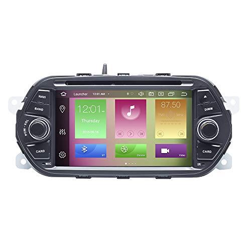 Per FIAT EGEA TIPO 2015 2016 2017 7'Auto GPS DVD Radio di navigazione Stereo 2 Din Android 10.0 Octa Core 4GB RAM 64GB ROM Supporto Car Auto Play/TPMS/OBD / 4G WiFi/DAB