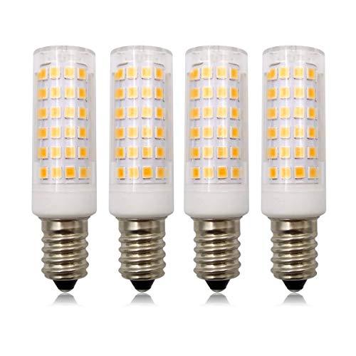 E14 dimbare LED-lampen, 5W (50W SES kleine Edison-schroef kaars gloeilamp), 220V-240V, warmwit 3000K, 4 stuks [meerweg]