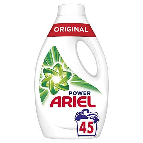 Ariel Original Lessive Liquide Élimination des Taches et Fraîcheur Intense, Les 45 Lavages, 2,47L