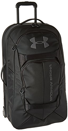 Under Armour Checked Rolling Travel Suitcase, Black (001)/Black, One Size Fits All