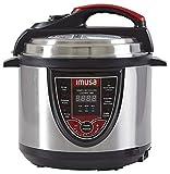 IMUSA USA 5Qt Electric Stainless Steel 5-Qt. Bilingual Digital Pressure Cooker, Red (Insta-Pot)