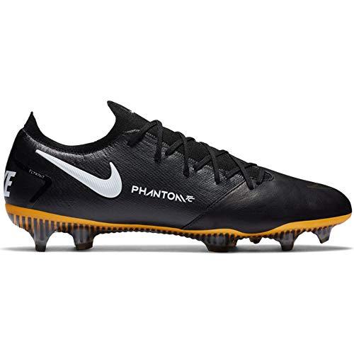 Nike Phantom GT Elite Tech Craft FG - Zapatillas deportivas, color negro, blanco y dorado