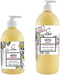 Jax Wax Australian Wattle Shimmering After Wax Body Lotion Pump - 1L