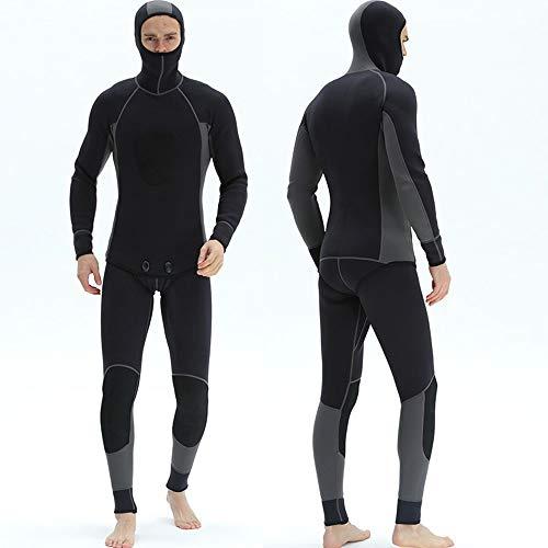 ZHBD Herren Neoprenanzug Neopren Kompletter Anzug Erwachsener 3mm Wetsuit Overall Surfen Schwimmen zum Schnorcheln Surfen Kanufahren (Farbe : Grau)