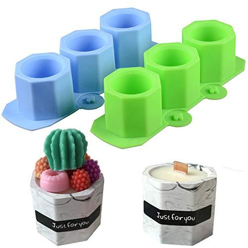Gurxi 2 Pezzi Stampo in Silicone per Realizzare Vasi per Piante e Fiori Stampi per Calcestruzzo in Silicone per Ghiaccio per Candele Artigianali Fatte a Mano Fare Torte Gelatina di Pizza Stampo