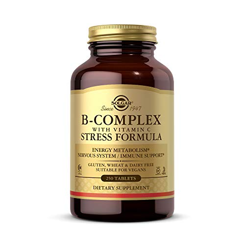 Solgar Vitamin B-Complex with Vitamin C Tablets - Pack of 250
