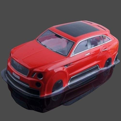 HONG YI-HAT RC PVC Rojo Drift Cuerpo de la cáscara for HSP HPI AX-035 1:10 HSP 94123 94122 94103 eléctrico en Carretera Drift Car Piezas de Repuesto