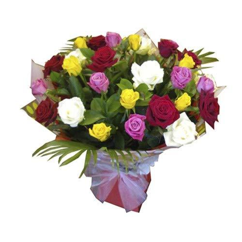 Florclick - Ramo de 24 rosas variadas - Ramo de flores naturales a domicilio en 24h