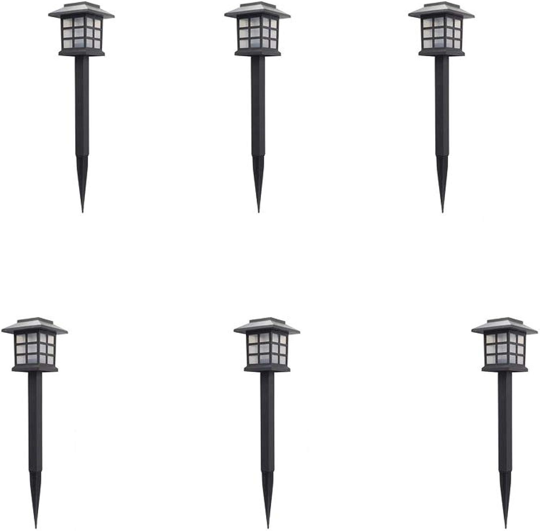 ZHAB Solar Gartenleuchten,6er Set Elegante Solarlampe Laterne wasserdichte LED Lichteffekt Dekoration Lichtfür Auen Terrasse Rasen Garten Hinterhfe Wege