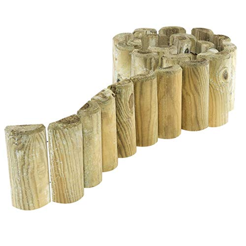 Brand New Wooden border Fence Roll 1.8 m Garden lawn edging Rust-Proof Wire lawn.