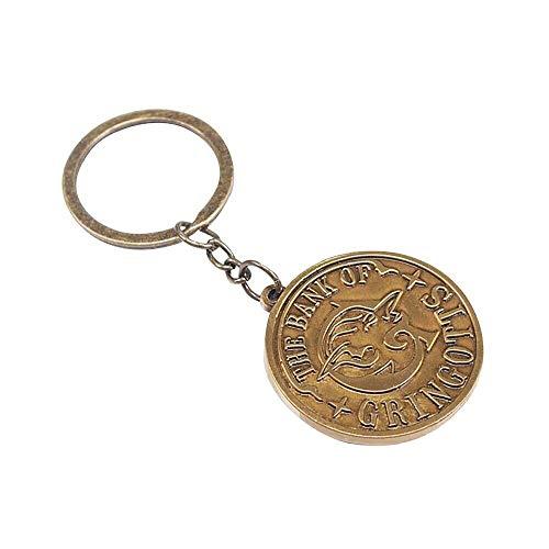 Half Moon Bay Unisex Harry Potter The Bank Of Gringotts Coin Metal Keyring Key Fob Schlüsselanhänger, Multi
