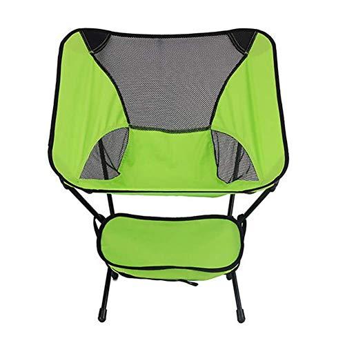 HUALI Silla Plegable portátil Compacto, Ultraligero acampa Plegable Silla de Playa, Estable Plegable Silla de Playa for Picnic Jardín LIULI (Color : Green)