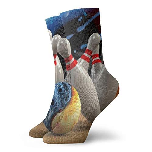 Pengyong Yin Yang Bowling-Socken, lässig, atmungsaktiv, für Laufen, Training, Arbeit, Sport, Wandern, für Männer und Frauen