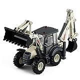 Xolye Bidirezionale carrello elevatore escavatore Boy Toy Simulazione Ingegneria del Veicolo metallo anti-caduta Pull Trattori agricoli giocattolo in lega auto posteriore auto giocattolo for i bambini