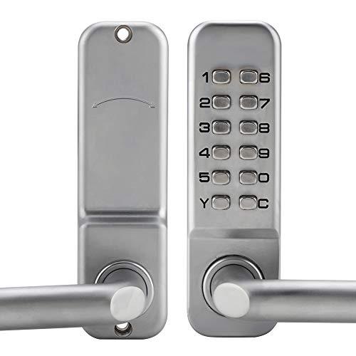 Bloqueo de código, 1-11 dígitos Aleación de zinc Cerradura de la puerta de entrada sin llave Combinación de código conveniente Cerradura de la puerta Contraseña Cerradura de seguridad