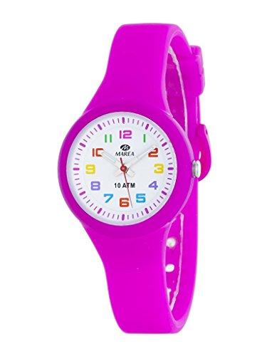 Marea Mädchen Analog Uhr mit Silikon Armband B25135/7