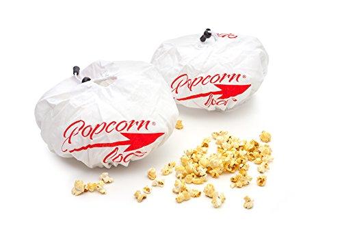 popcornloop Ersatzhauben 2 Stück Doppelpack Original Design Geeignet Mais Popcornmaschine 100% Baumwolle Waschmaschinenfest