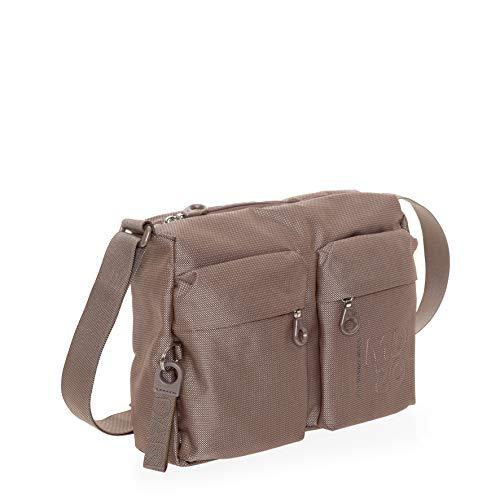 Mandarina Duck MD20 Women's Crossbody Shoulder Bag, Iridescent Taupe, 13 Inch