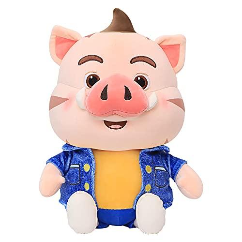 Lindo Cerdo Deportes Cerdo de Peluche de Juguete para niños Almohada Amor Cerdo Animal de Peluche Almohada de Felpa muñeca Creativa niña Regalo de cumpleaños 45 cm (18 Pulgadas) básico