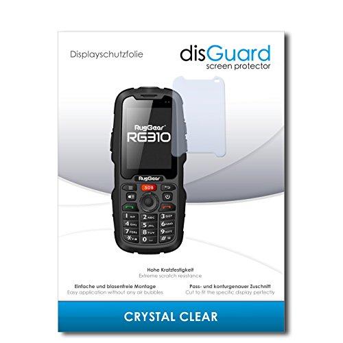 disGuard® Bildschirmschutzfolie [Crystal Clear] kompatibel mit Ruggear RG310 [4 Stück] Kristallklar, Transparent, Unsichtbar, Extrem Kratzfest, Anti-Fingerabdruck - Panzerglas Folie, Schutzfolie