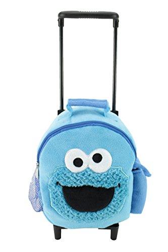 """Animal Adventure Jolley TrolleyPlush BackpackSesame StreetCookie Monster5 x 10"""" x 21"""""""