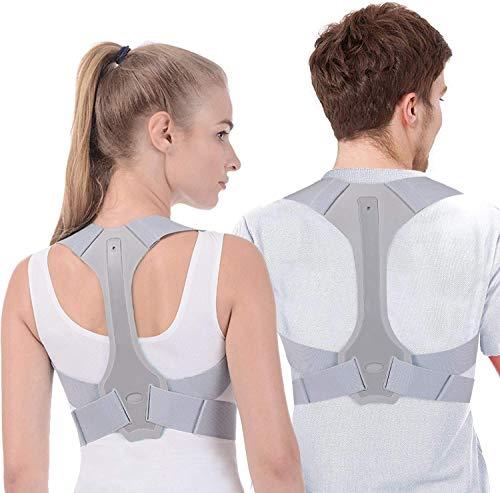 Posture Corrector for Men and Women - Adjustable Upper Posture Brace for Support,Providing Shoulder-Neck-Back Relief Pain (L)