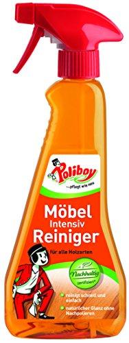 Poliboy - Möbel Intensiv Reiniger - für alle Holzarten - schnelle und einfache Reinigung und Pflege - Sprühmatic 375 ml - Made in Germany