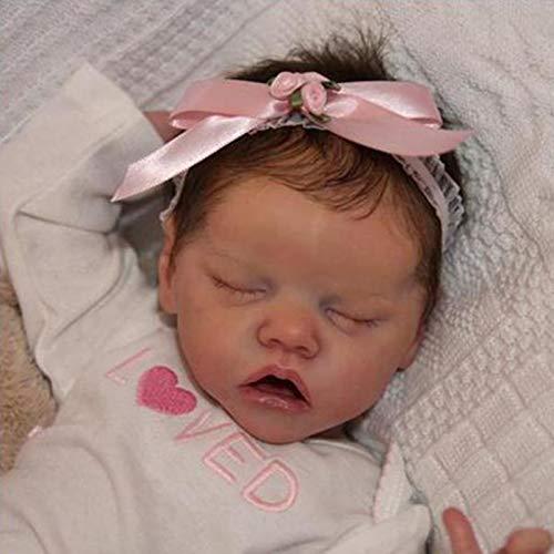 Poupée Reborn Bebe, 23 Pouces Vrai Bébé Reborn en Silicone, Jouets De Bébé Nouveau-Né en Vinyle Souple