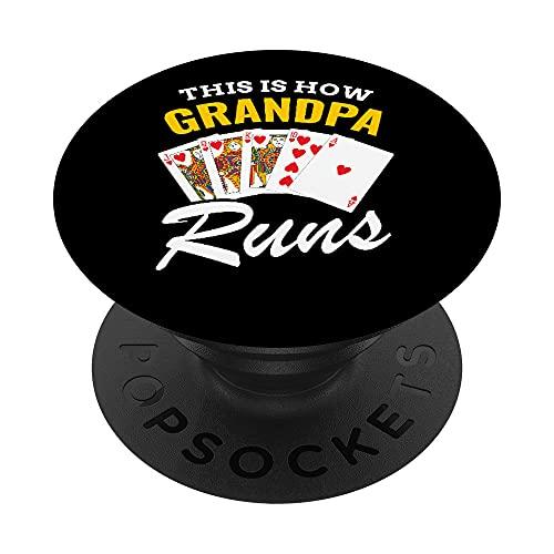 Así es como el abuelo Corre Poker Royal Flash PopSockets PopGrip: Agarre intercambiable para Teléfonos y Tabletas