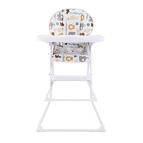 ZCFXGHH Baby Effen Hout Eettafel, Baby Opvouwbare Eettafel, Multifunctionele Kinderstoel, Draagbare Hoge Kinderstoel