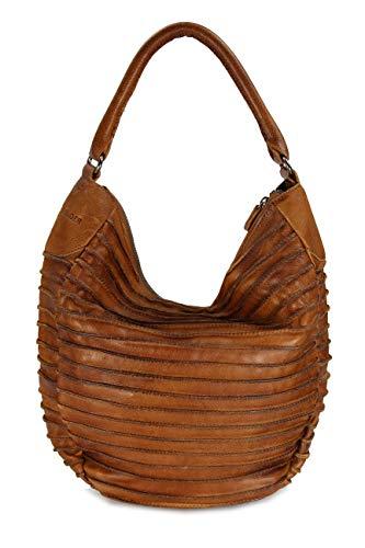 FREDsBRUDER, Damen Handtaschen, Schultertaschen, Hobo-Bags, Beuteltaschen, Leder, Cognac, 40 x 32 x 9 cm (B x H x T)