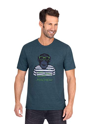 Trigema Herren 637269120 T-Shirt, Jeans-Melange, L