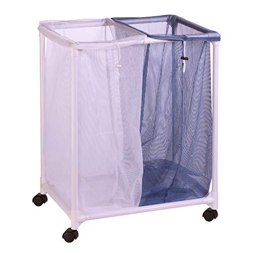 Honey-Can-Do 2 Bag Mesh Laundry Sorter HMP-01628 White