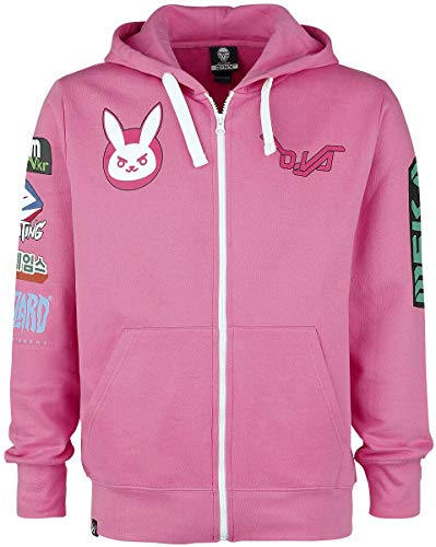 Overwatch Ultimate D.VA Männer Kapuzenjacke pink S 100% Baumwolle Esports, Fan-Merch, Gaming
