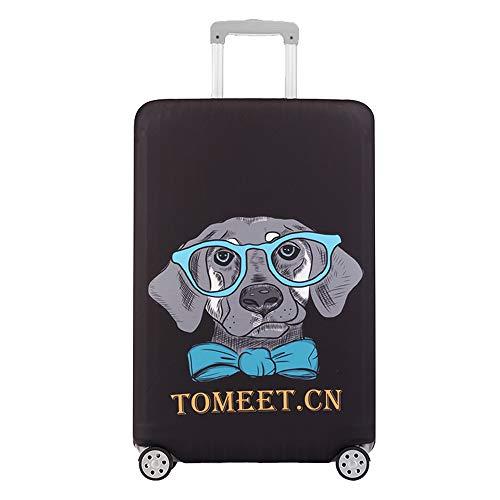 Chaqueta De Equipaje Engrosada Funda De Viaje Protectora Cubierta De Polvo Dibujos Animados Código XL Gafas Perro
