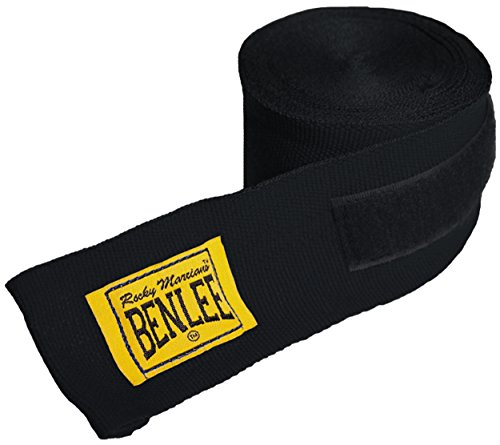 BENLEE Unisex-Adult Rocky Marciano Boxbandagen, Schwarz, 3m