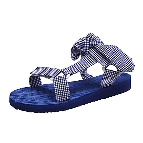 Zapatos Mujer Verano Planas Casuales Aire Libre Ligero Antideslizante Sandalias Mujer Plataforma con Leopardo con Punta Abierta de Playa Sandalias de Vestir cómodo Transpirables Punta Redonda